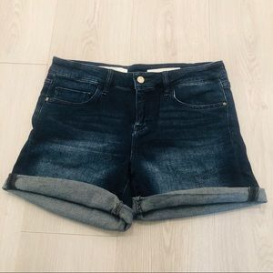 Anthropologie Pilcro Dark Wash Denim Shorts